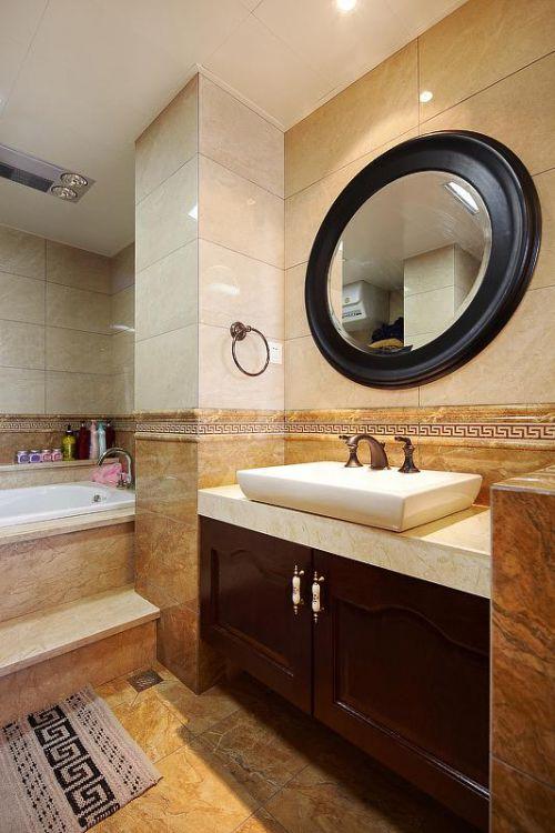 现代简约美式混搭卫生间装修案例