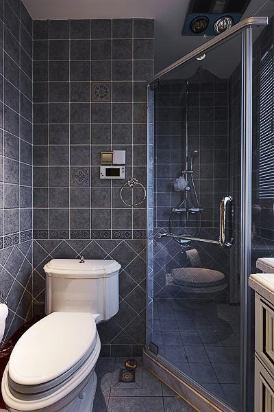 美式混搭卫生间设计图
