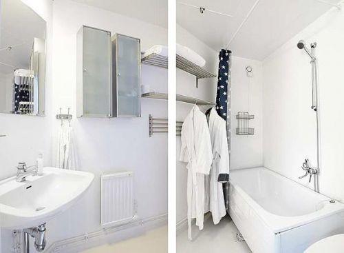 现代简约混搭卫生间效果图