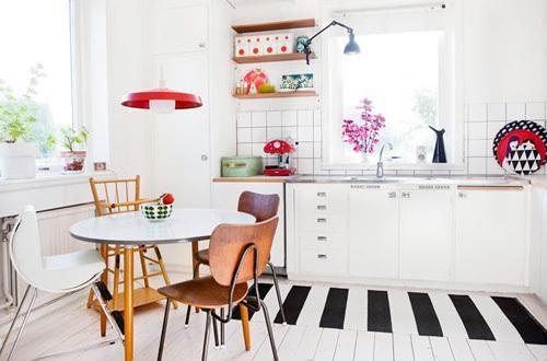 现代简约北欧餐厅厨房沙发设计图