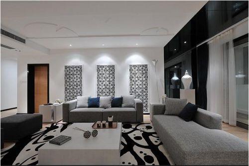 现代简约中式客厅设计案例展示
