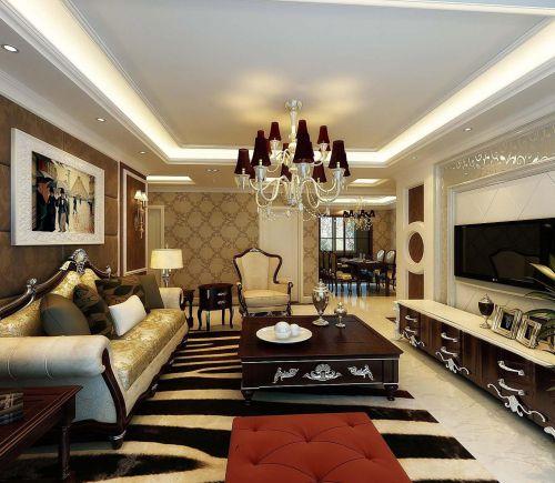 欧式新古典客厅图片