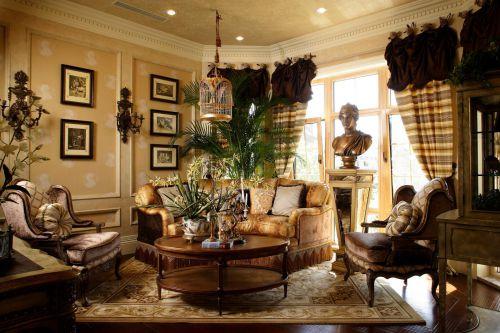 欧式客厅背景墙沙发案例展示
