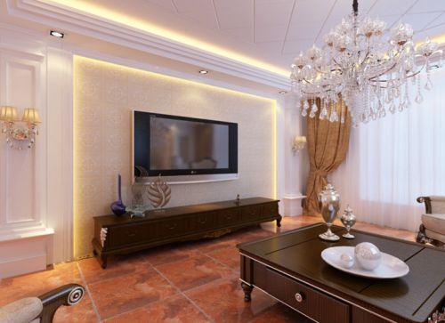 欧式欧式风格客厅电视背景墙效果图
