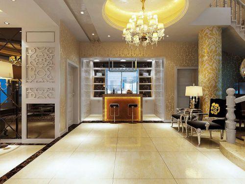 欧式欧式风格客厅吧台别墅酒柜效果图