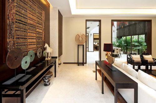现代简约中式客厅效果图