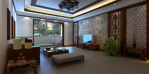 中式中式风格客厅效果图