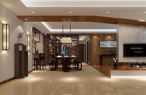 中式客厅电视背景墙装修效果展示