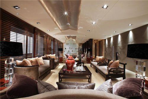 中式美式混搭客厅图片