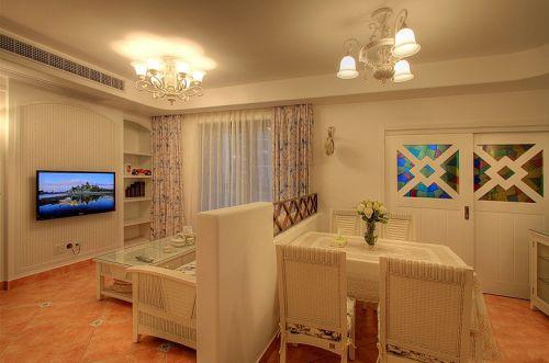 田园田园风格客厅吊顶电视背景墙案例展示