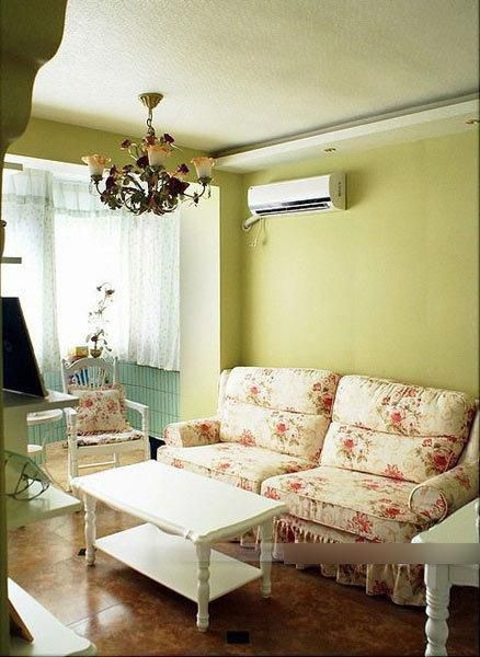 田园简约田园风格客厅沙发茶几田园沙发装修效果展示