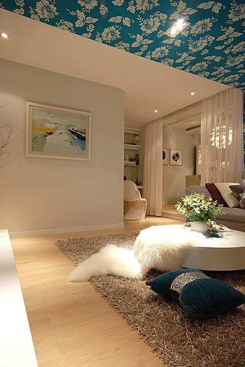 现代简约简欧客厅设计方案