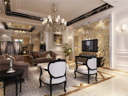 新古典客厅电视背景墙装修案例