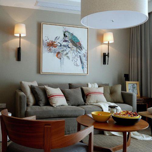 北欧客厅背景墙沙发设计方案