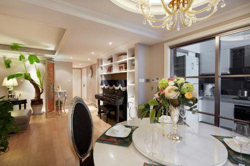欧式新古典混搭餐厅装修案例