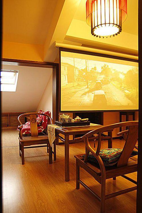 现代简约中式混搭复古餐厅效果图