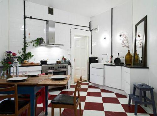 现代简约地中海美式混搭复古餐厅图片