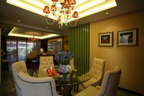 中式简欧混搭餐厅设计案例