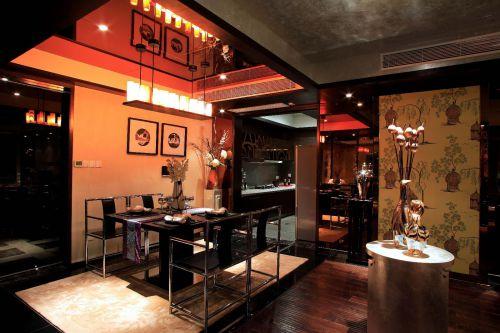 现代简约中式混搭餐厅装修图