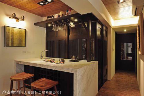 美式鄉村廚房吊頂設計案例展示