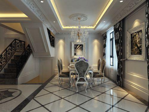 新古典古典新古典風格古典風格餐廳吊頂窗簾設計案例展示