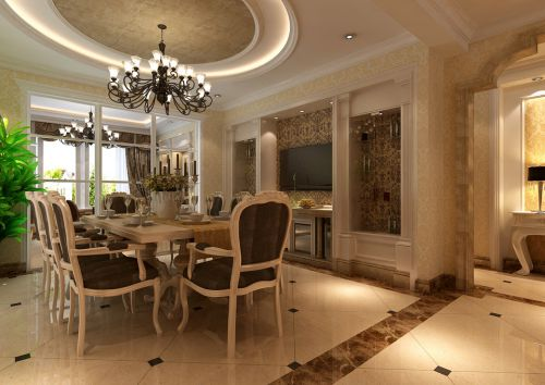 歐式簡歐簡歐風格餐廳吊頂設計案例展示