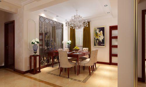 欧式简欧餐厅吊顶设计案例展示