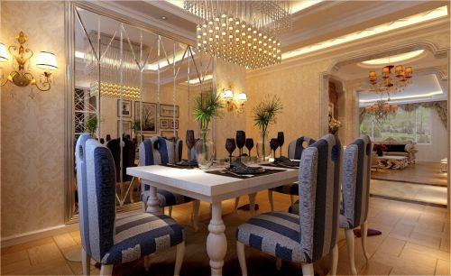 简欧餐厅吊顶设计案例展示