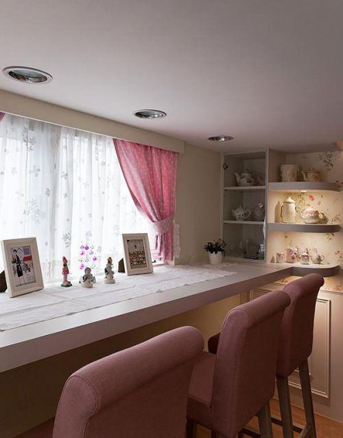 現代簡約簡歐餐廳裝修效果展示
