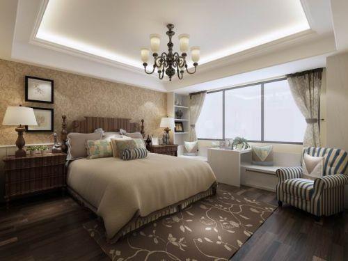 北欧卧室吊顶窗帘设计方案