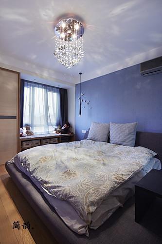 现代简约北欧卧室图片