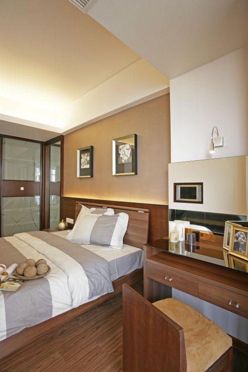 现代简约中式卧室案例展示