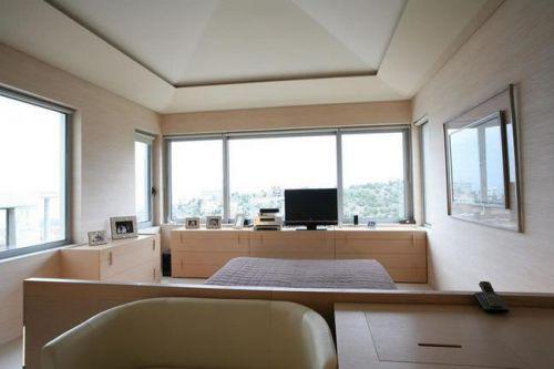 现代简约地中海美式混搭复古卧室效果图