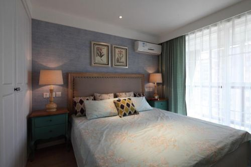现代简约欧式美式卧室效果图