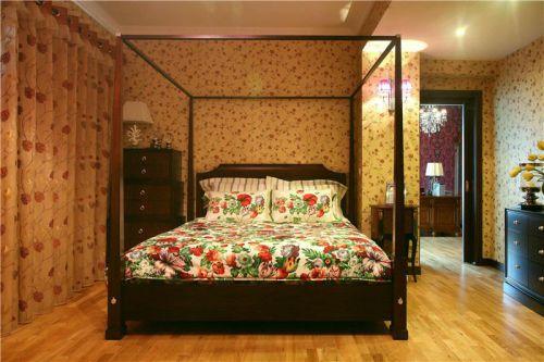 田园美式卧室图片