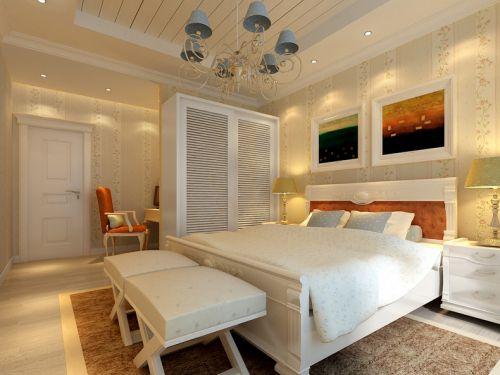田园卧室跃层吊顶设计案例展示