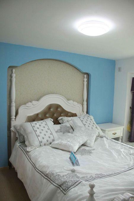 田园卧室复式楼图片