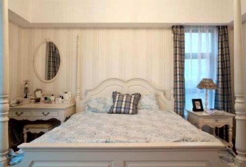 田园自然田园风格卧室窗帘装修案例