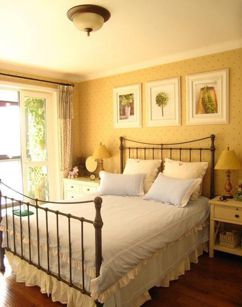 现代简约田园卧室设计图