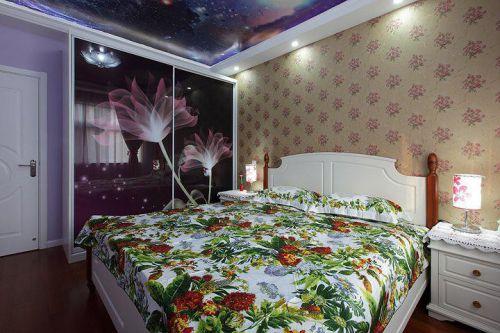 欧式田园卧室效果图
