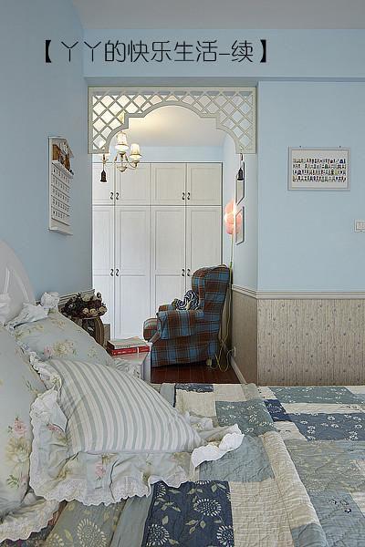 中式田园日式混搭复古卧室效果图