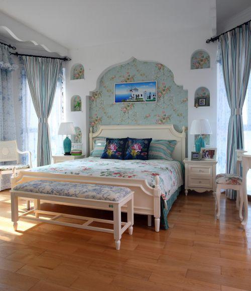 地中海美式卧室设计案例