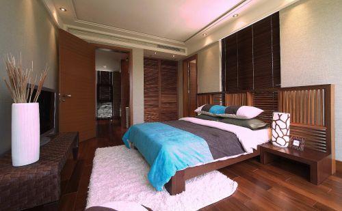 中式地中海卧室设计案例