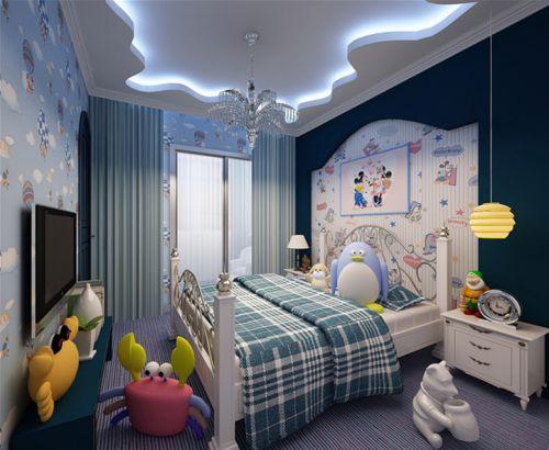 地中海卧室电视背景墙设计案例
