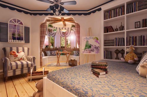 地中海卧室吊顶装修效果展示