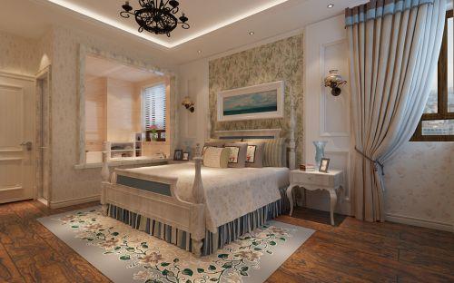 地中海卧室吊顶窗帘设计图
