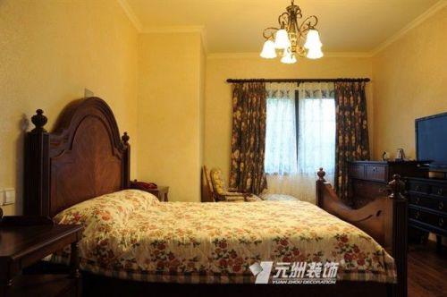 地中海卧室跃层吊顶窗帘设计图