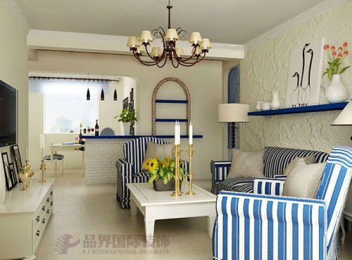 地中海地中海风格客厅卧室吊顶图片