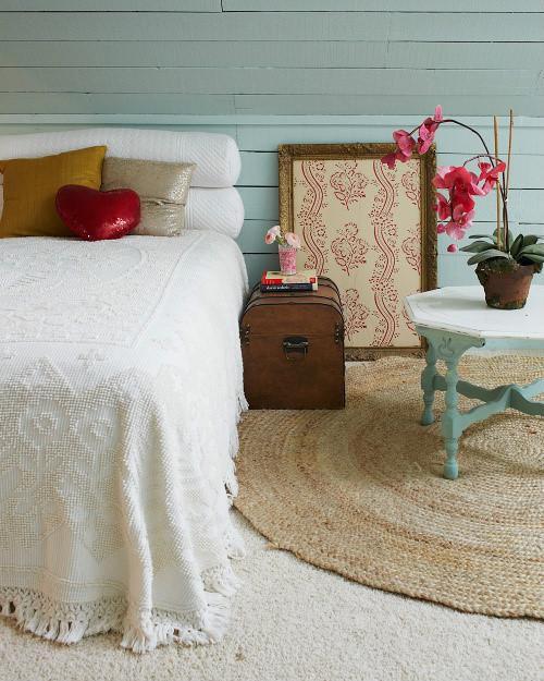 现代简约地中海美式混搭复古卧室装修效果展示