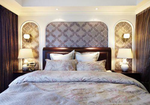 现代简约美式混搭卧室装修图